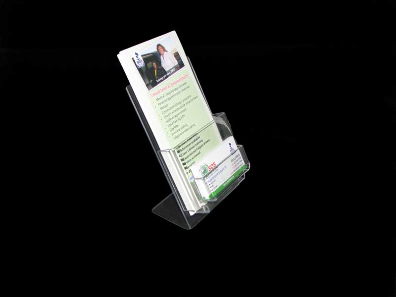 acrylic brochure card holder