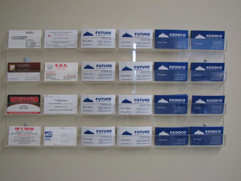 Acrylic Business Card Wall Rack