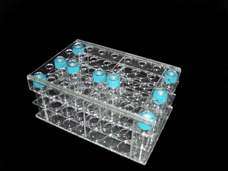 plexiglas test tube holder