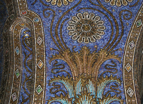 Aachen Cathedral mosaic Aachen Germany