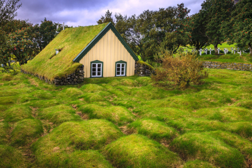 Iceland cottage back