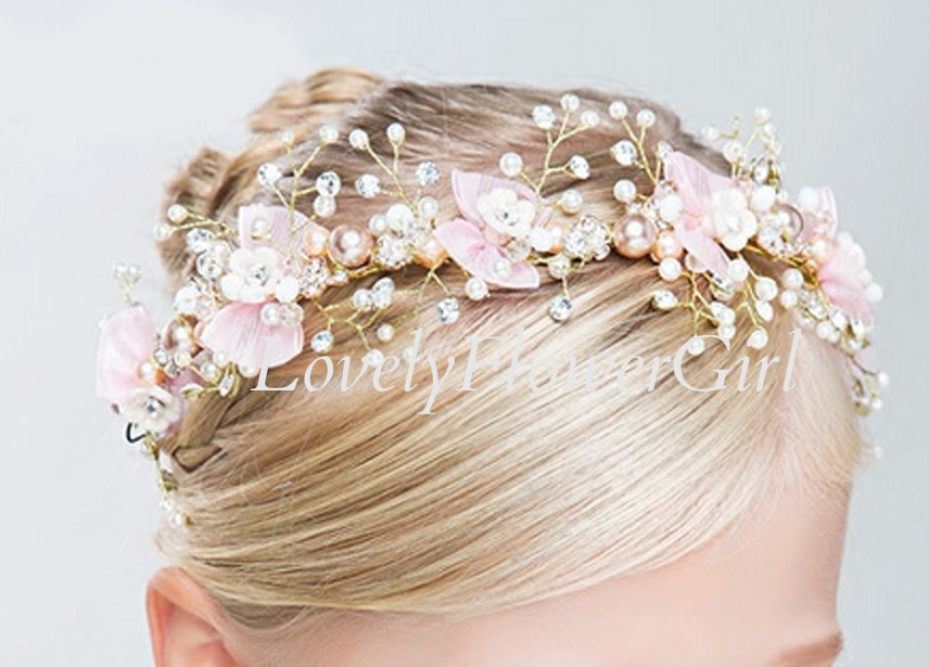 Flower Girl Pearl Headband