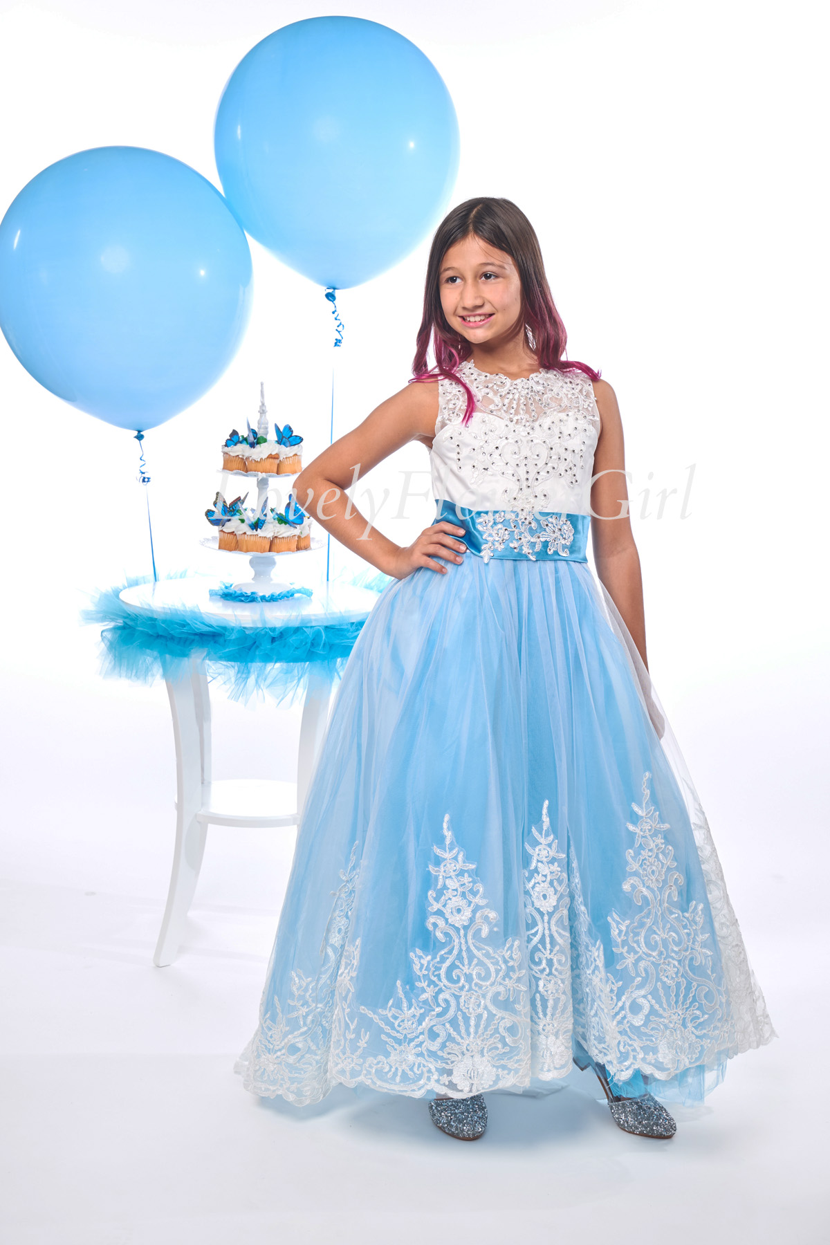 Ribbon Flower Girl Dress