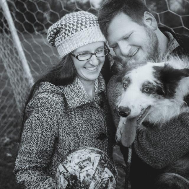 Liz and Chris – A Dog-filled Buffalo Engagement Session, Buffalo NY