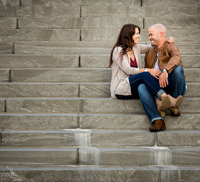 Tess and Nate – Canalside Engagement Photography, Buffalo NY