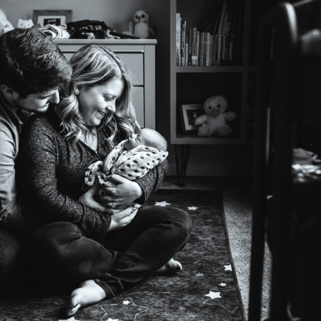 The Koenig Family – Lifestyle Newborn Photos, Rochester NY