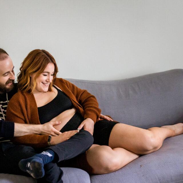 Meg and Scott – At Home Lifestyle Maternity Photos, Buffalo NY