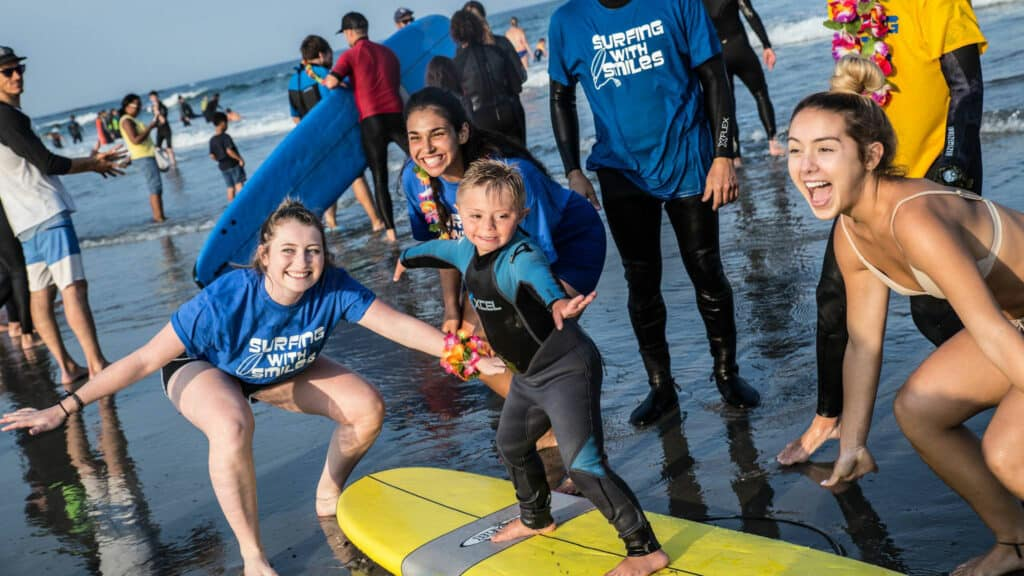 Surfing with Smiles group photo
