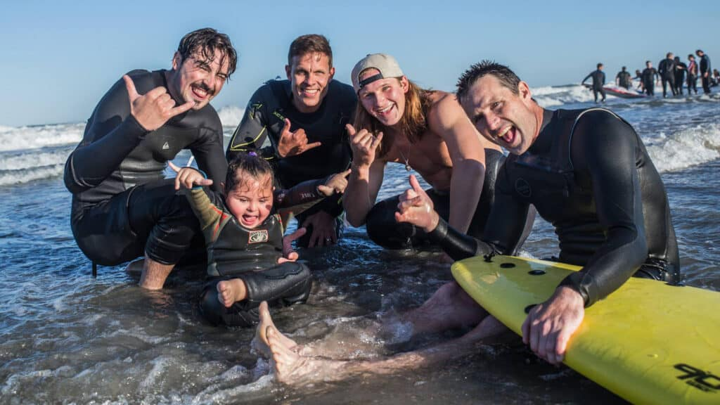 Surfing with Smiles hang loose