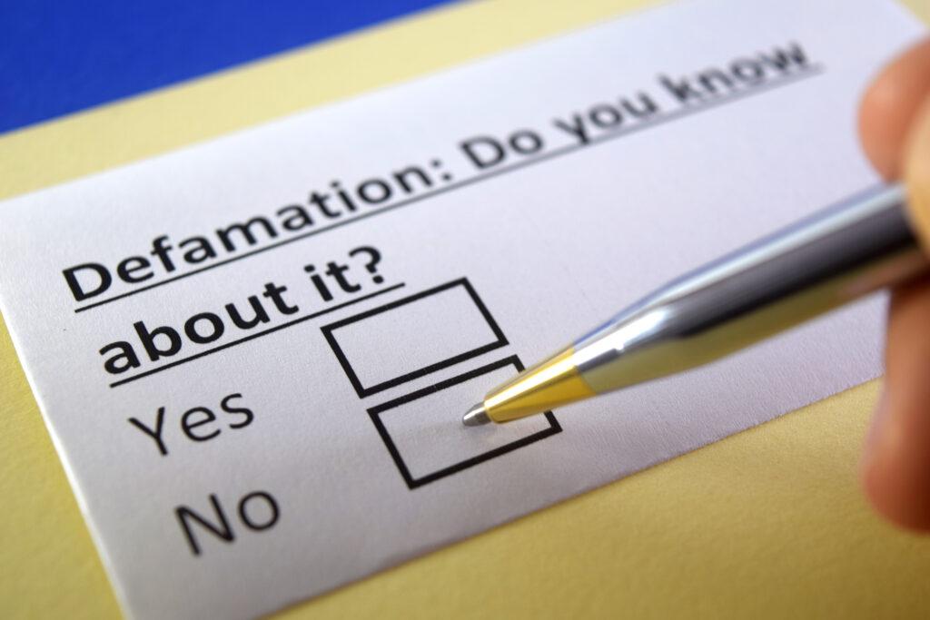 Defamation Checklist