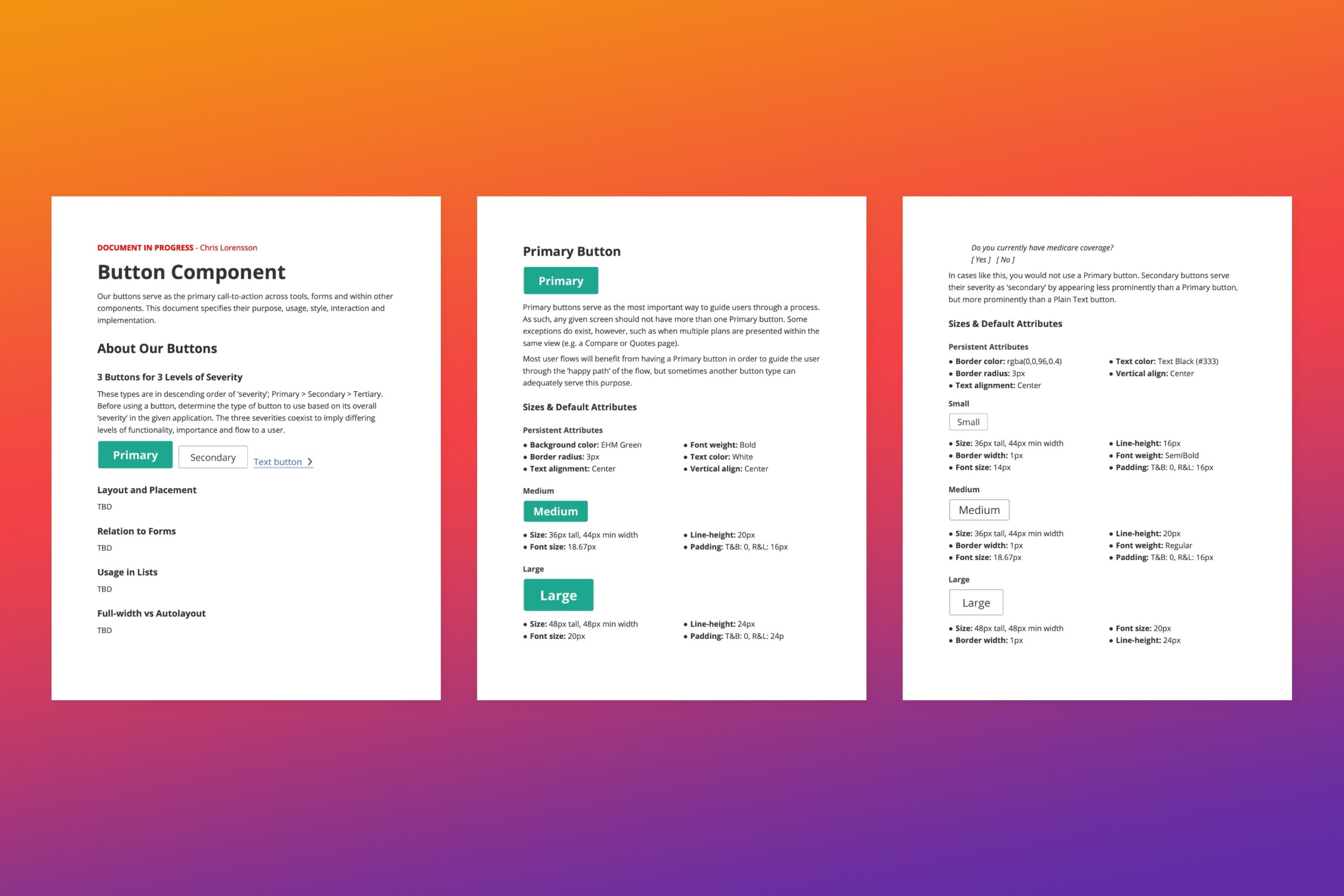 Design documentation example