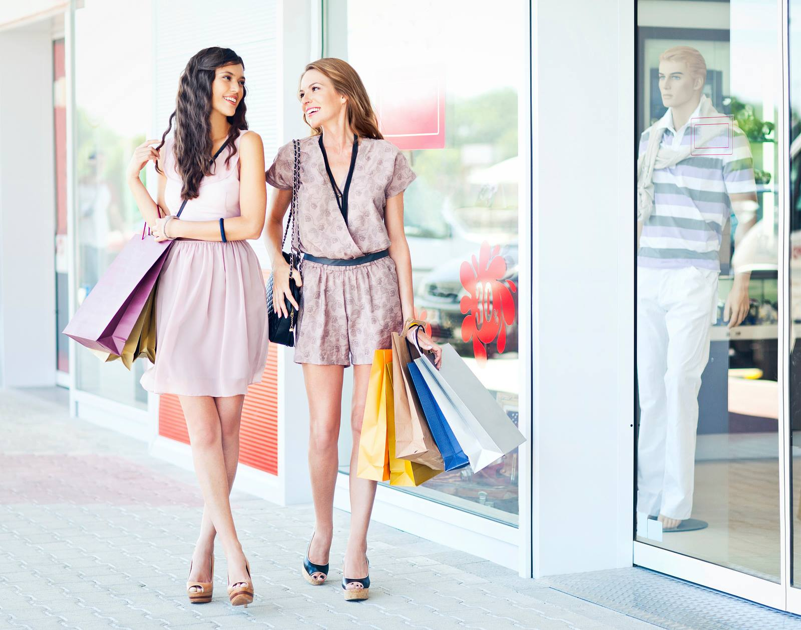 girls walking downtown port chester