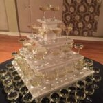 Wooden Champagne Tower Rental