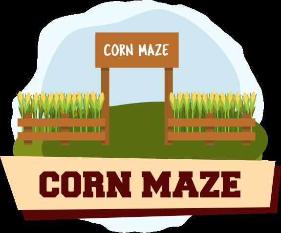 Corn Maze Illustration