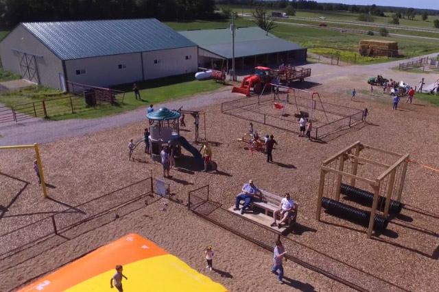 Outdoor Play Area at Country Roads Family Fun Farm - Stotts City, MO