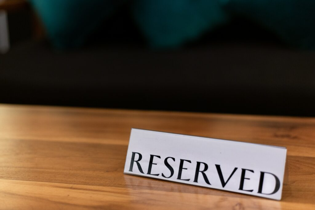 reserved - meeting