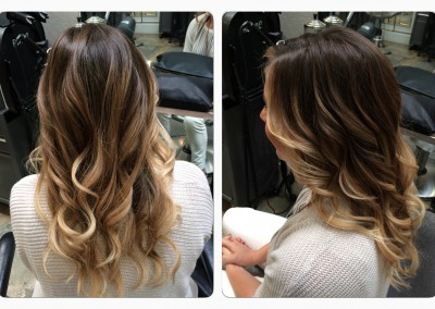 Balayage ombré and haircut
