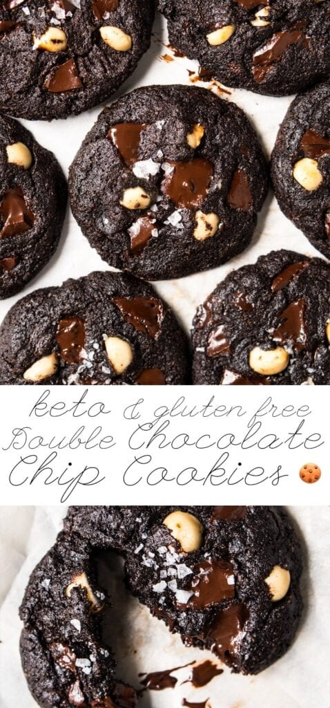keto double chocolate chip cookies