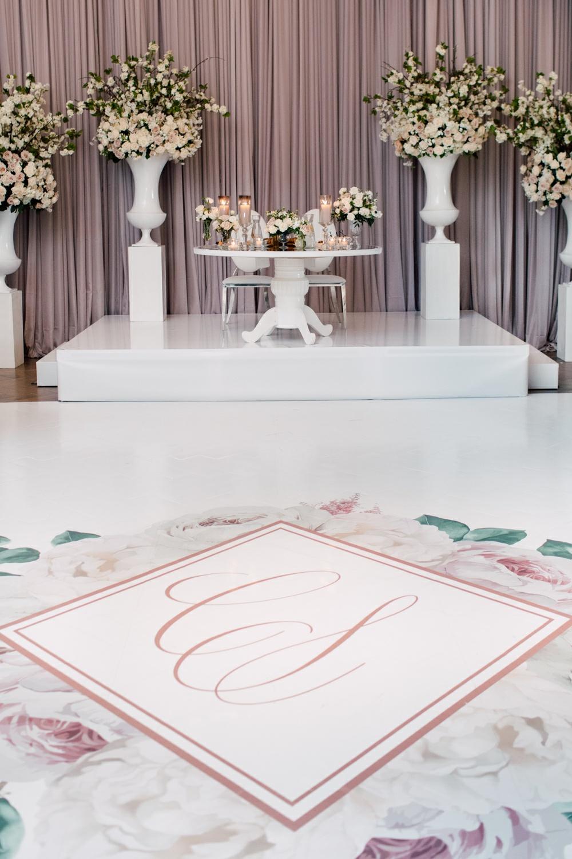 Monogram Floor Wedding