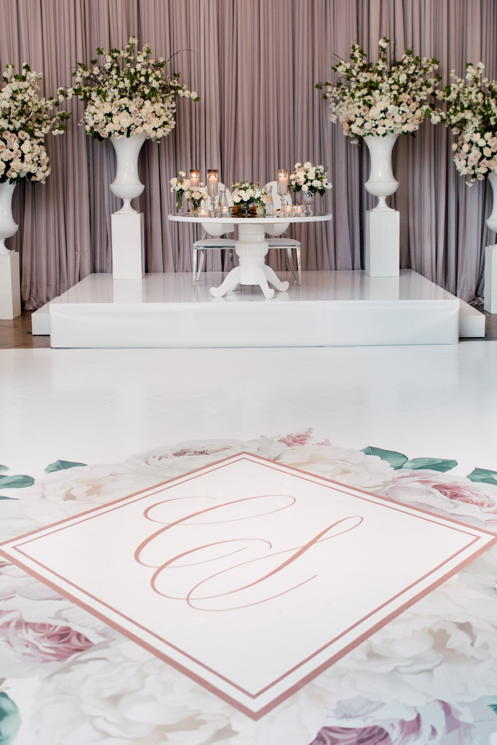 Monogram Floor Wedding
