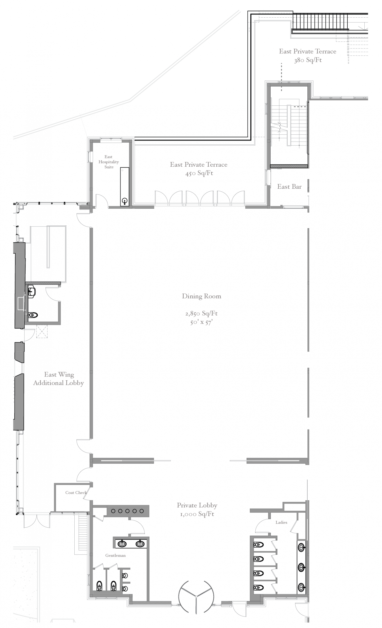 Floorplan of the East wing