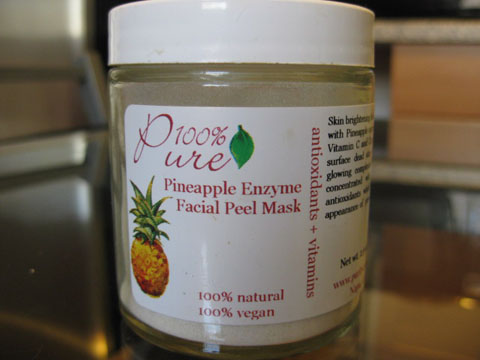 100% Pure Pineapple Enzyme Facial Peel Mask, $17