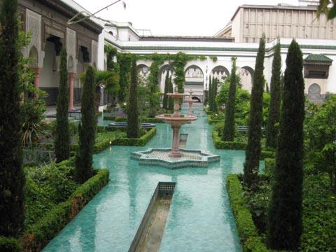 美丽的花园庭院