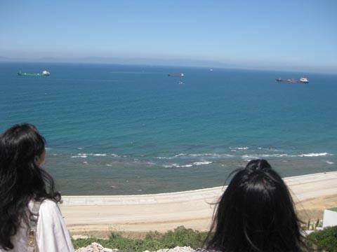 望着窗外的地中海