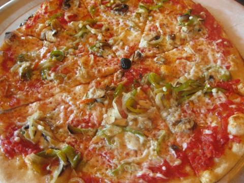 图斯素食比萨饼,$ 17.50为大