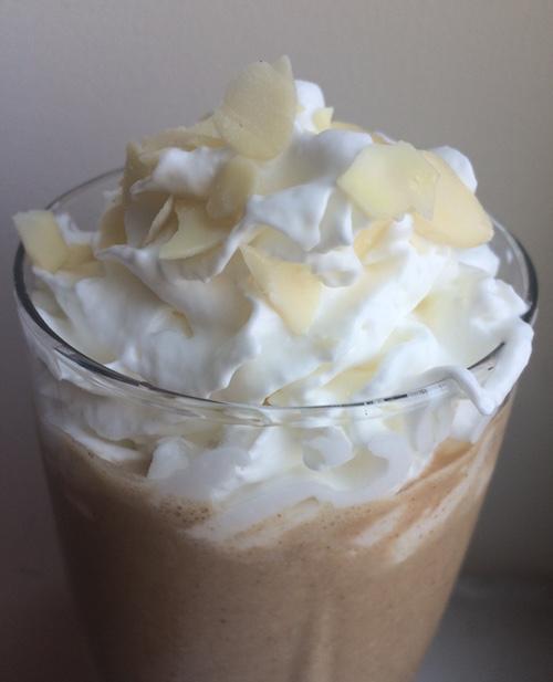 Triple almond coffee smoothie