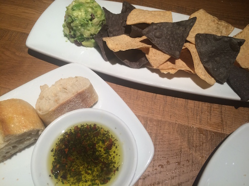 Starter bread and guac