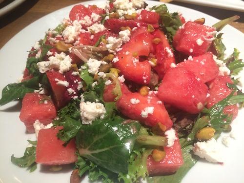 Watermelon feta salad -- so refreshing