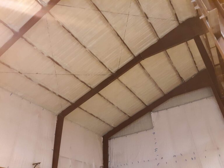 during the spray foam insulation process