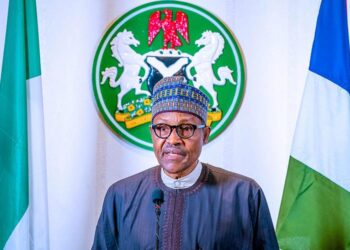 Nigerian President Muhammadu Buhari addresses the nation on the coronavirus disease (COVID-19), in Abuja, Nigeria March 29, 2020. Nigeria Presidency/Handout via REUTERS ATTENTION EDITORS- THIS IMAGE HAS BEEN SUPPLIED BY A THIRD PARTY - RC2VTF9P67DA