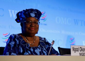 GENEVA, July 16, 2020  -- Ngozi Okonjo-Iweala of Nigeria, a candidate for the new head of the World Trade Organization , attends a press conference at the WTO headquarters in Geneva, Switzerland, July 15, 2020. With the selection process for the new head of WTO entering the second phase, three of the candidates presented themselves with members at a special General Council meeting on Wednesday. They each had one hour and a half to make their candidacy presentations and take questions from the membership. (Photo by Li Ye/Xinhua via Getty)