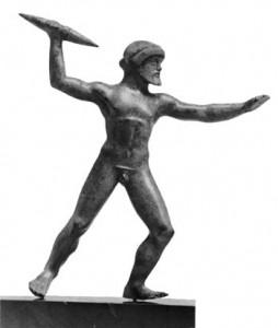 Zeus holding Vajra