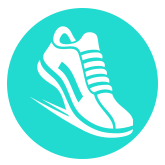 NYTriathlon - symbol of shoe running/walking - bronx, aqua, running