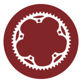 NYTriathlon - symbol of bicycle, biking - prospect park, maroon, biking