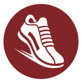 NYTriathlon - symbol of shoe running/walking - prospect park, maroon, running