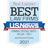 Image of 2021 Best Lawyers badge.