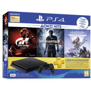 Sony PlayStation 4 500GB Slim with 3 Games and 3 Month PS Plus Membership