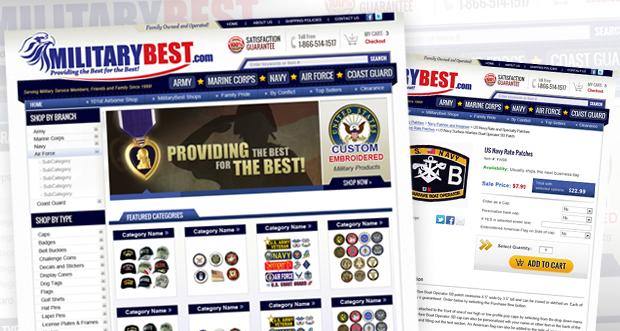 MilitaryBest.com Custom Website Design