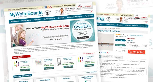 MyWhiteBoards.com Custom Website Design