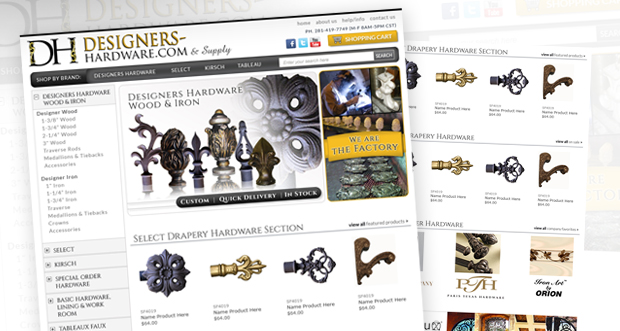 DesignersWarehouse Custom Website Design