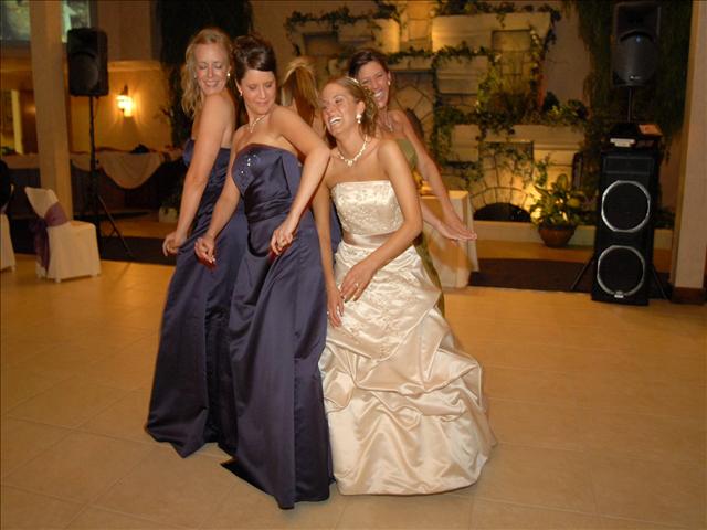Bridal party dancing to a salt lake city wedding dj