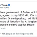 رفع اسم السودان من قائمة الدول الراعية للإرهاب