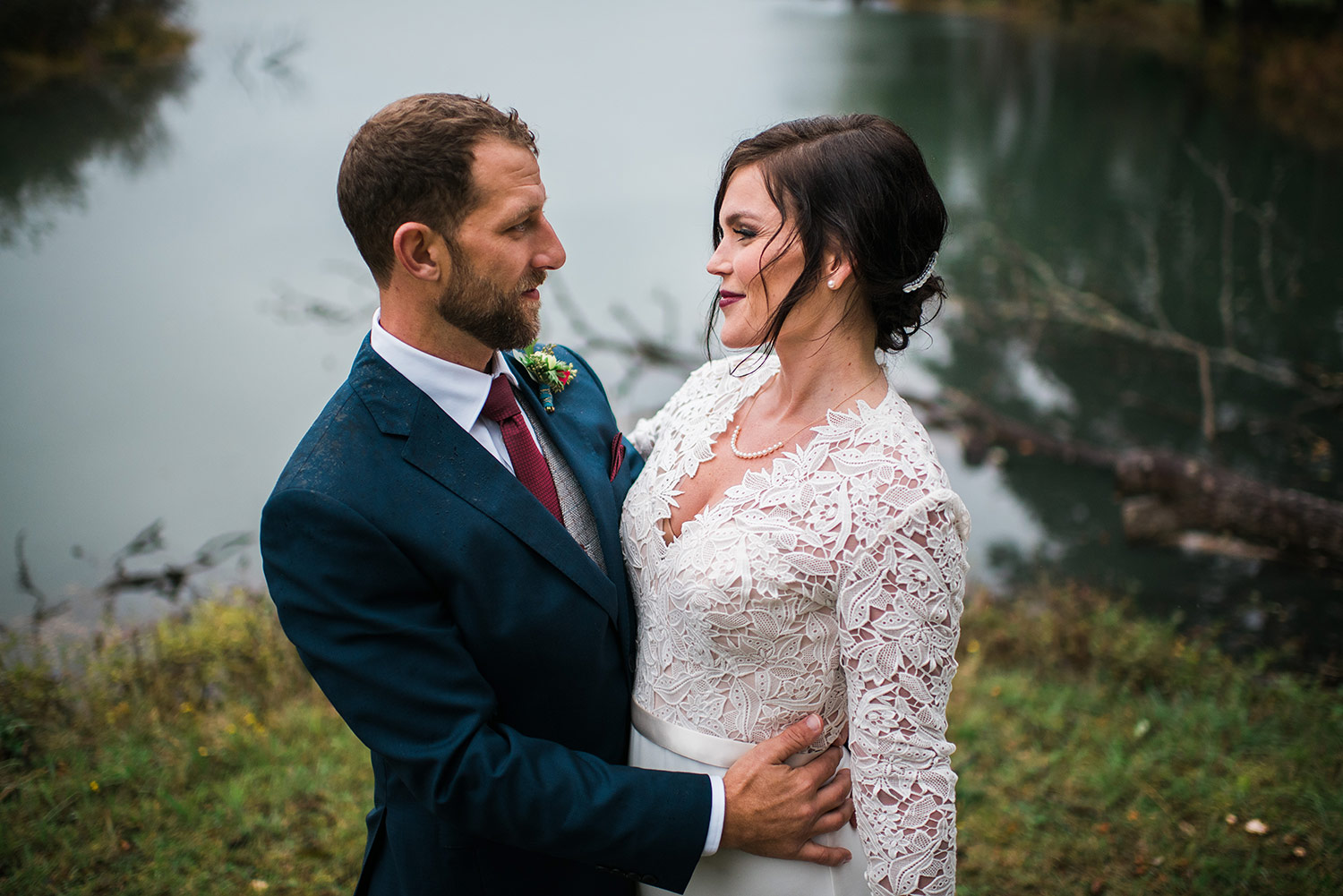 Bridal Portraits on Whidbey Island after wedding ceremony