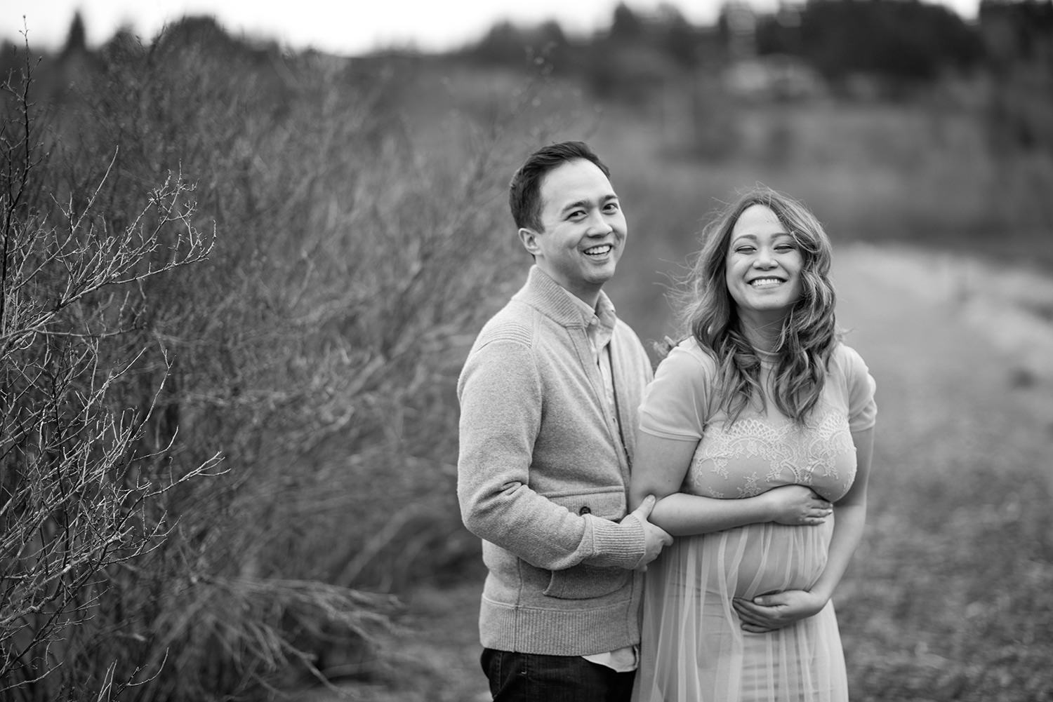 Bellevue Maternity session in the Mercer Slough