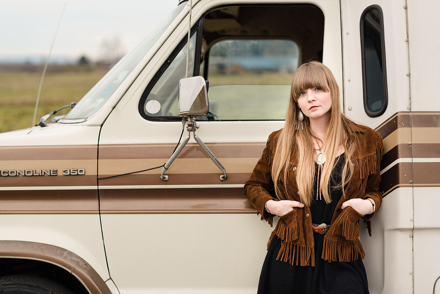 Portrait of Country music singer and songwriter Courtney Marie Andrews, by Andy Shepard Photography