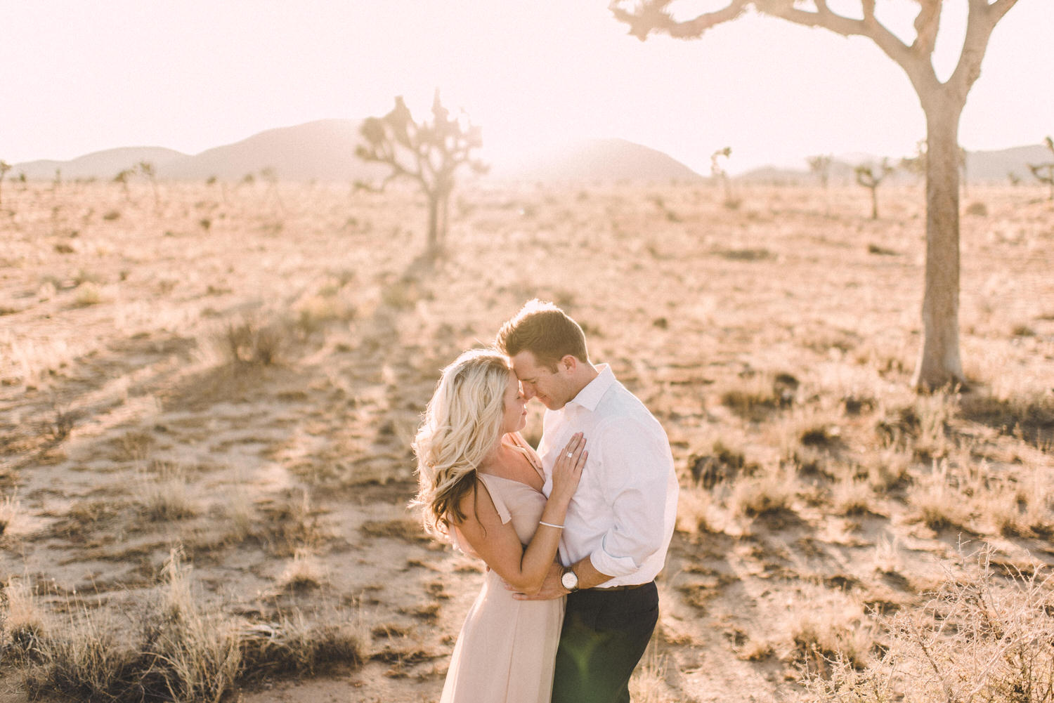 Joshua Tree California Engagement Session at sunset